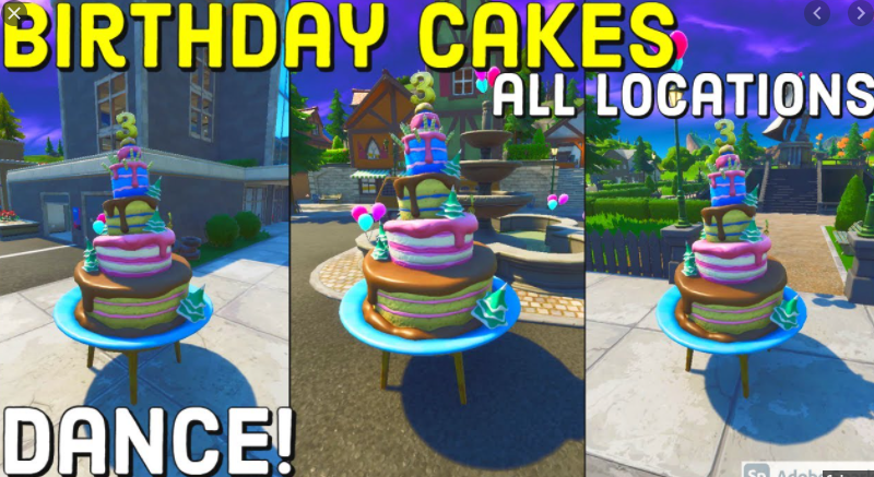 Where All Of The Birthday Cakes Are In Fortnite Fps Guides